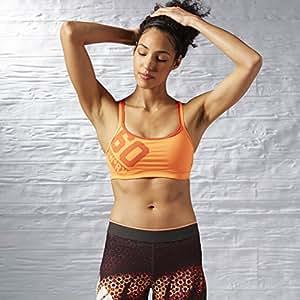 Reebok Os Short Bra–Top für Damen, Damen, OS Short Bra, Orange (Orange)