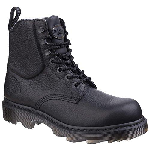 Dr. Martens Unisexe Calshott Service Bottes Bottines Chaussures Cuir À Lacets Noir