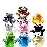 HAPPY CHERRY HappyCherry - Handpuppe Fingerpuppe Handspielpuppe Fingerpuppen-Set Fingerpuppen-Handschuh Tierpuppen Tierfiguren - 10 Paar