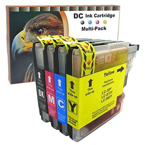 D&C 10 Druckerpatronen komp. für Brother LC985 LC39 LC975 DCP J125, DCP J140 W, DCP J315 W, DCP J515 W, MFC J220, MFC J265 W, MFC J410, MFC J415 W
