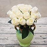 VGJJMNG Künstliche Blume 18 Stück/Künstliche Rose Blumen Hochzeit Bouquet Rosen Familie Dekoration Hochzeit Party Dekoration
