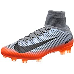 Nike Mercurial Veloce III DF Cr7 FG, Chaussures de Football Homme, Gris (Cool MTLC Hematite-Wolf Grey-Total), 43 EU