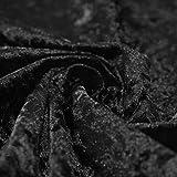Bling Crushed Schwarz Samt–Ideal für Vorhang Polstermöbel Jalousien 147,3cm 147cm Breit–Meterware
