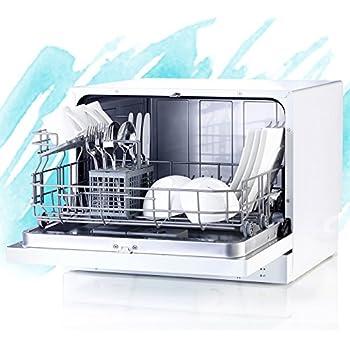 Sichler Haushaltsgeräte Geschirrspüler: Tischgeschirrspüler TGS-6 für 6 Maßgedecke (Spülmaschine)