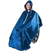 GOTITA – Poncho Impermeable para Silla de Ruedas – Chubasquero Universal – Capa de Lluvia para Silla de Ruedas Fácil de Usar. Poncho de Diseño Italiano (Azul Claro)