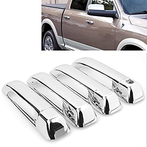 For Dodge Ram 09-16 / Jeep Grand Cherokee 05-10 High Quality Triple Chrome ABS Side Door Handle Cover Trim