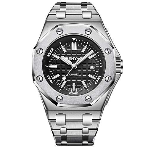 BENYAR Herren-Armbanduhr wasserdicht Analog Quarzuhrwerk Luxuriöses Design Edelstahl Herren Uhr Mit Schwarz Zifferblatt