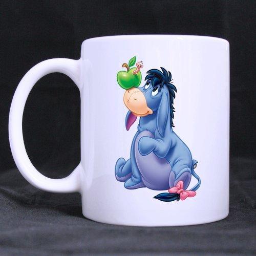 Ane bleu/blanc Motif Bourriquet personnalisé Mug tasse café Bureau tasse à thé 11 CL Home Tasse Imprimé sur deux côtés)
