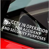 Platinum Place 2 x 200x50mm-Window-CCTV In Operation for Accident and Security Purposes Window Sticker-CCTV Sign-Car,Van,Lorry,Truck,Taxi,Bus,Mini Cab,Minicab-Go Pro,Dashcam