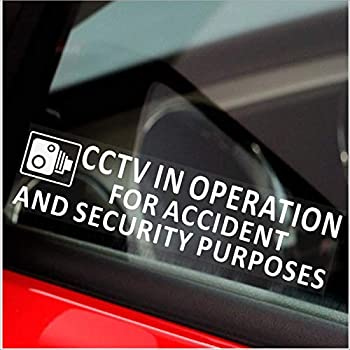 Platinum Place 1 x Window Sticker-CCTV Video Passed to Police for Accident /& Security Warning-200mm x 87mm-CCTV Sign-Van,Lorry,Truck,Taxi,Bus,Mini Cab,Minicab