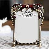Produkt-Bild: Schöne Metall Vintage Perle Elefant 4x 6Foto Rahmen für Tischplatte oder Hochzeit Tisch Decor 1-style