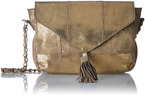 Pieces - Borsa pelle Pieces Silana Crossover Oro (Gold Colour)