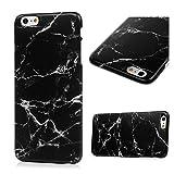 iPhone 6s Plus Marmor Hülle, KASOS Marble Handyhülle : Silikon Case Weich TPU Huelle mit IMD Technologie für iPhone 6 Plus, Schwarz