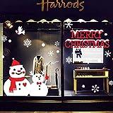 Minions Boutique Frohe Weihnachten Dekor Weiss Weihnachten Schneemann Fenster haftet Aufkleber Aufkleber Weihnachtsdekoration Ornamente Party Supplies