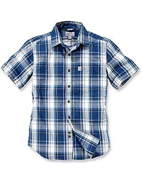 Carhartt Slim Fit Plaid kurzarmhemd XL Blau/Weiß