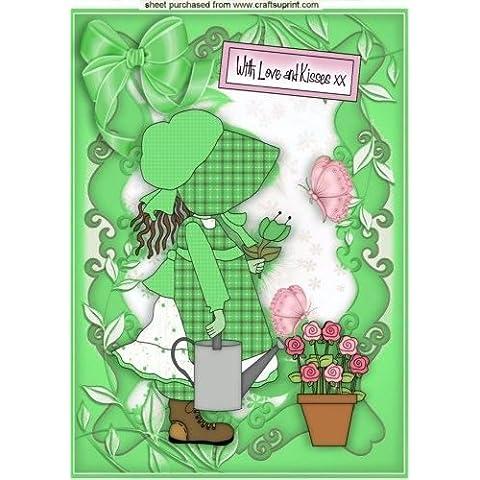 Amore e Baci Bambina cofano in verde A4da Nick Bowley
