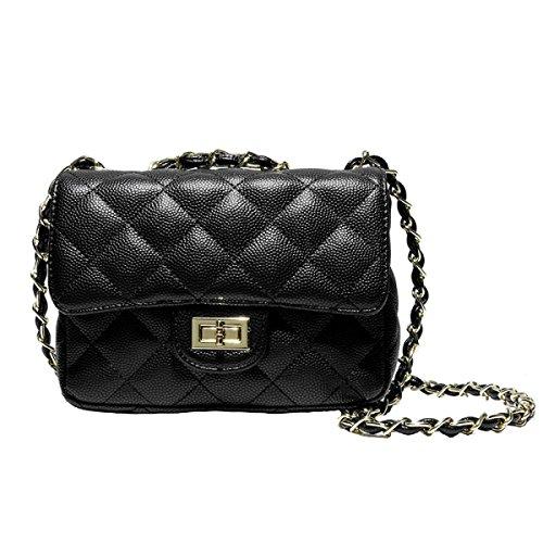 Delle Signore Di Modo Di Svago Messenger Bag Multi-color Black