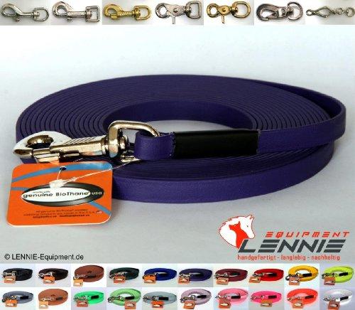 BioThane® Schleppleine 9 mm in 25 Farben [Lila (Violett)] / 1-30 Meter [1m] / genäht / ohne Handschlaufe