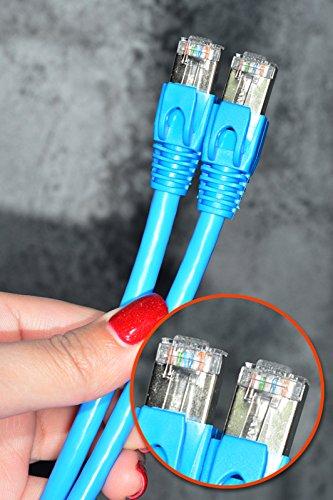 FFMC CAT6 Gigabit LAN (Local Area Network)-Ethernet (RJ45) Gigabit-übertragung Duplex Patch Kabel-/DSL-Kabel, kompatibel mit CAT5/CAT5e/CAT7 (3.0 metre) -