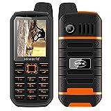 VKworld Stone V3 Plus Téléphone Portable Robuste 2G GSM 2.4' 141g Double Carte SIM Standard IP54 Quotidien Anti-Poussière étanche 3000mAh 32M + 32M Caméra DE 0.3MP Grand Bouton Classique Debloqué