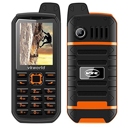 """VKworld Stone V3 Plus Téléphone portable robuste 2G GSM 2.4"""" 141g double carte SIM standard IP54 Quotidien Anti-Poussière étanche 3000mAh 32M + 32M Caméra de 0.3MP Grand Bouton classique Debloqué"""