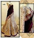 Krishna Emporia Women's Velvet Lehenga C...