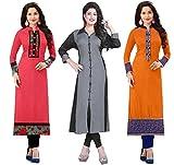 #9: RAMDEV Women's Crepe Dress Material (_Multicolor_Free Size)