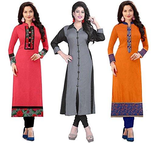 RAMDEV Women's Crepe Dress Material (_Multicolor_Free Size)