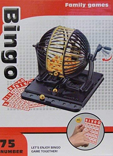 Allkindathings 8230 Familie Bingo Lotto Lottery Maschine Spiel mit 75Zahlen und 45Karten