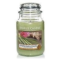 Yankee Candles Candela Jar Grande - Citronella & Ginger - Yankee Candles Large Jar Candle - Lemongrass & Ginger