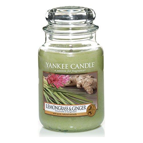 Yankee Candle 1507704E Bougie Parfumée Grande Jarre Citronnelle et Gingembre Combinaison Vert 11 x 11 x 20 cm 623 g