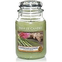 yankee candle Candela a Vaso Grande, Citronella e Zenzero