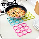 #5: Set of 2 Same Color 9-Rings Shaped Heat Resistant Silicone Table Coasters