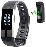 Newgen Medicals Fitnessuhr: Fitness-Armband mit Blutdruck-, Herzfrequenz- und EKG-Anzeige, IP67 (Pulsuhren)