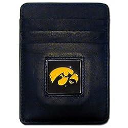 NCAA Iowa Hawkeyes Leather Money Clip/Cardholder Wallet
