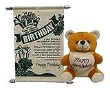 #10: Natali Happy Birthday Teddy With Birthday Scroll Card