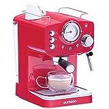 Oursson machine poeder & pads 3 jaar garantie, espresso, cappuccino, latte, mokka, 15 bar, rood, 1,5 liter, EM1500/RD koffie unisex volwassenen, 1,5 l