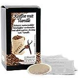 C&T Premium Aroma-Kaffeepads Vanille 15 Stück | Aromatisierter Kaffee im Pad für Senseo Kaffeemaschine | Flavoured Coffee | Schonend geröstet in eigener Privatrösterei | Der Trend aus den USA