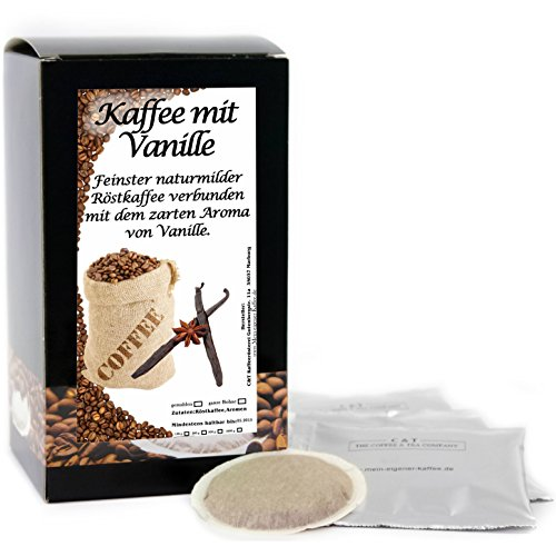 C&T Premium Aroma-Kaffeepads Vanille 15 Stück | Aromatisierter Kaffee im Pad für Senseo...