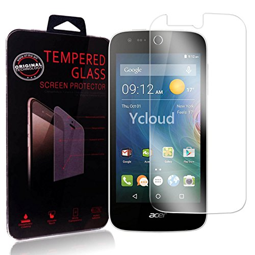 Ycloud Panzerglas Folie Schutzfolie Bildschirmschutzfolie für Acer Liquid Z330 screen protector mit Härtegrad 9H, 0,26mm Ultra-Dünn, Abger&ete Kanten