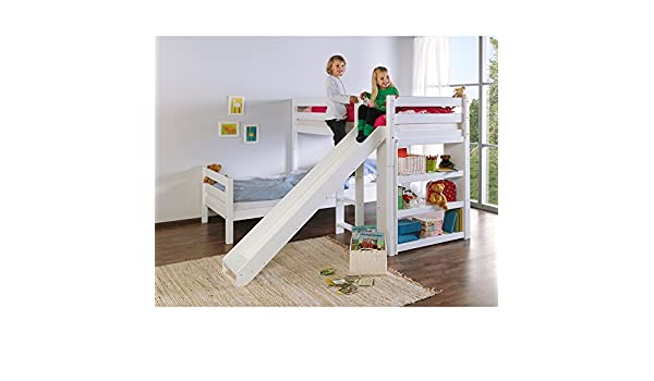 Etagenbett Beni Aufbauanleitung : Relita etagenbett beni l mit rutsche buche massiv weiß lackiert