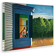 25043300e9007 Giallo Bus - Cuadro - Impresion En Lienzo - Edward Hopper - Cape Cod  Morning -