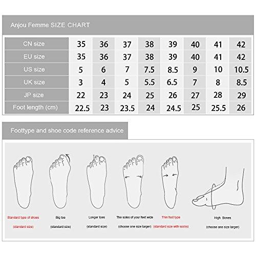 Scarpe Basse Cachemire Donna Liscia In Pelle Liscia Tacco Zeppa In Pelle, Scarpe Casual Per Tutte Le Stagioni Comfort Donna F011-red-36