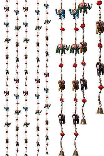 a1sonic ® indio elefantes cadena colgantes de decoración diseño único con bola...