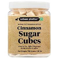 Urban Platter European Style Cinnamon Sugar Cubes, 700g / 25oz [Half Teaspoon Sized Cubes, Rough Cut, Approx 200 Cubes]