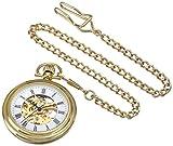 Stuhrling Original 6053.33333 - Montre Mécanique - Affichage Analogique - Bracelet Acier inoxydable Doré et Cadran Blanc - Mixte