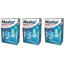 3X MAALOX REFLURAPID - 60 Bustine Monodose - BLOCCA IL REFLUSSO E RIDUCE IL BRUCIORE