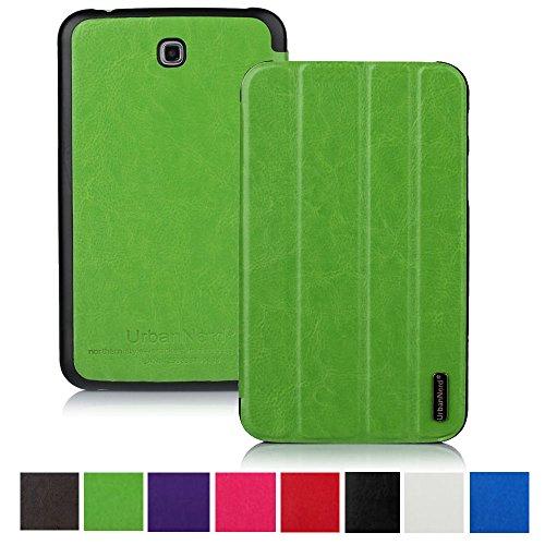 Smart Hülle für Samsung P5200 Galaxy Tab 3 7 Zoll - Tablettasche Tasche Cover Case Etui Schutzhülle in Grün (Galaxy Tab 3 7 Zoll Cover)