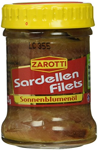 Zarotti Sardellen- Filet in Sonnenblume, 12er Pack (12 x 65 g)