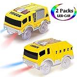 Magic Tracks Cars Toys pour Garçons, Mini Glow Truck Car (5 LED) pour 3 Ans 4 4 5 6 7 Enfants